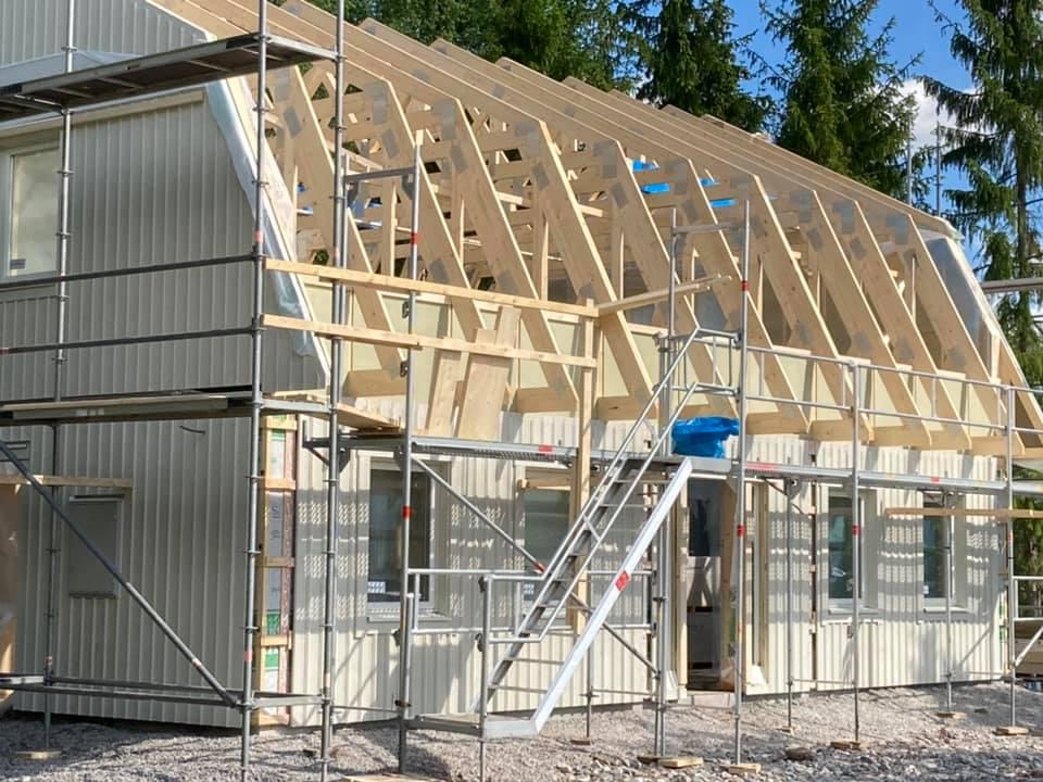 Nybyggnation av hus i Sala