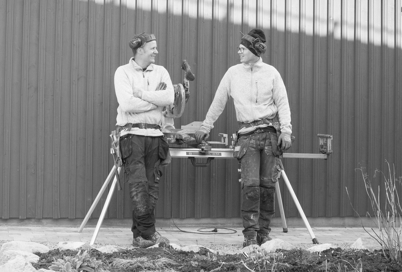 Uffe och Mackan på HW-Bygg AB