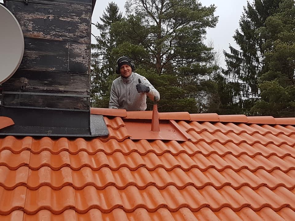 Nylagt tak som Uffe är riktigt nöjd med.