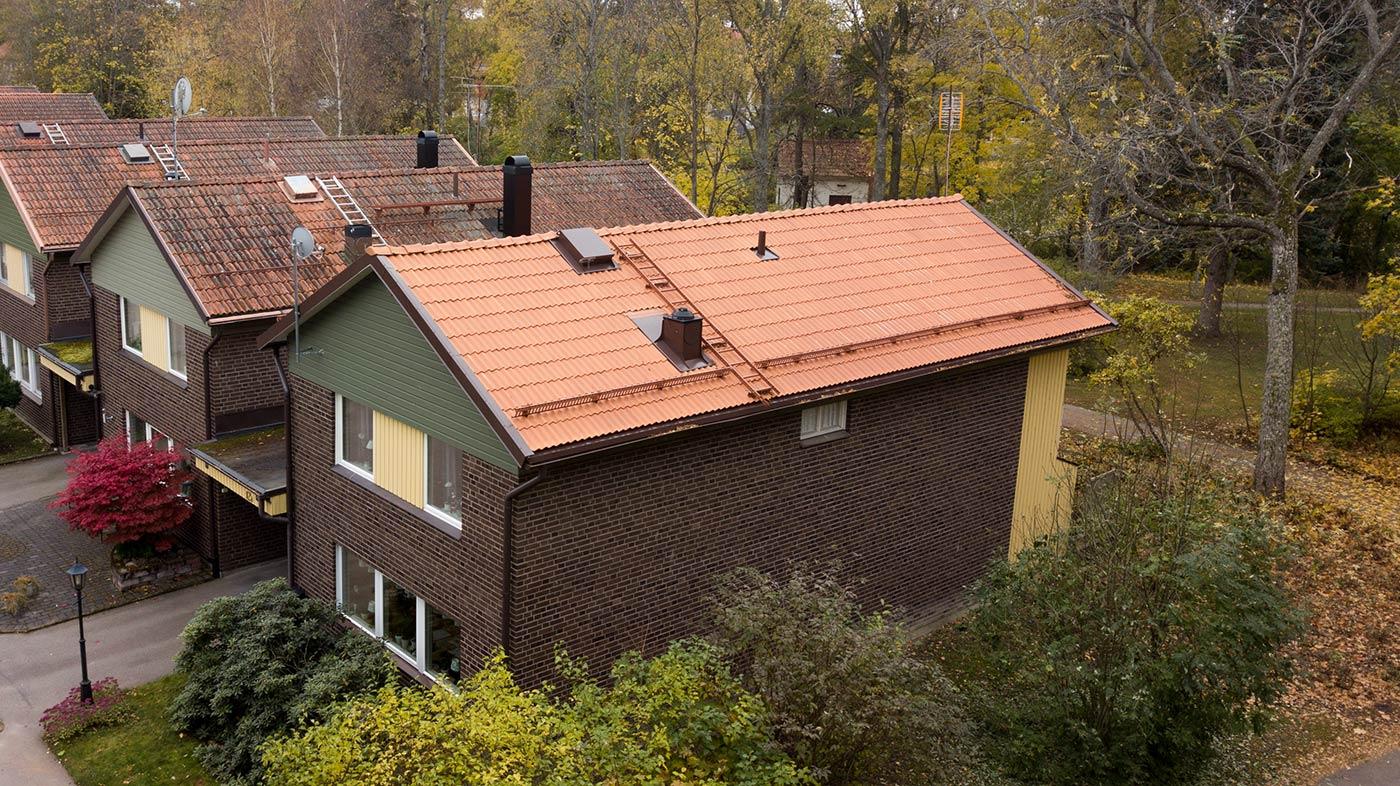 Nylagt tak i Sala av HW-Bygg