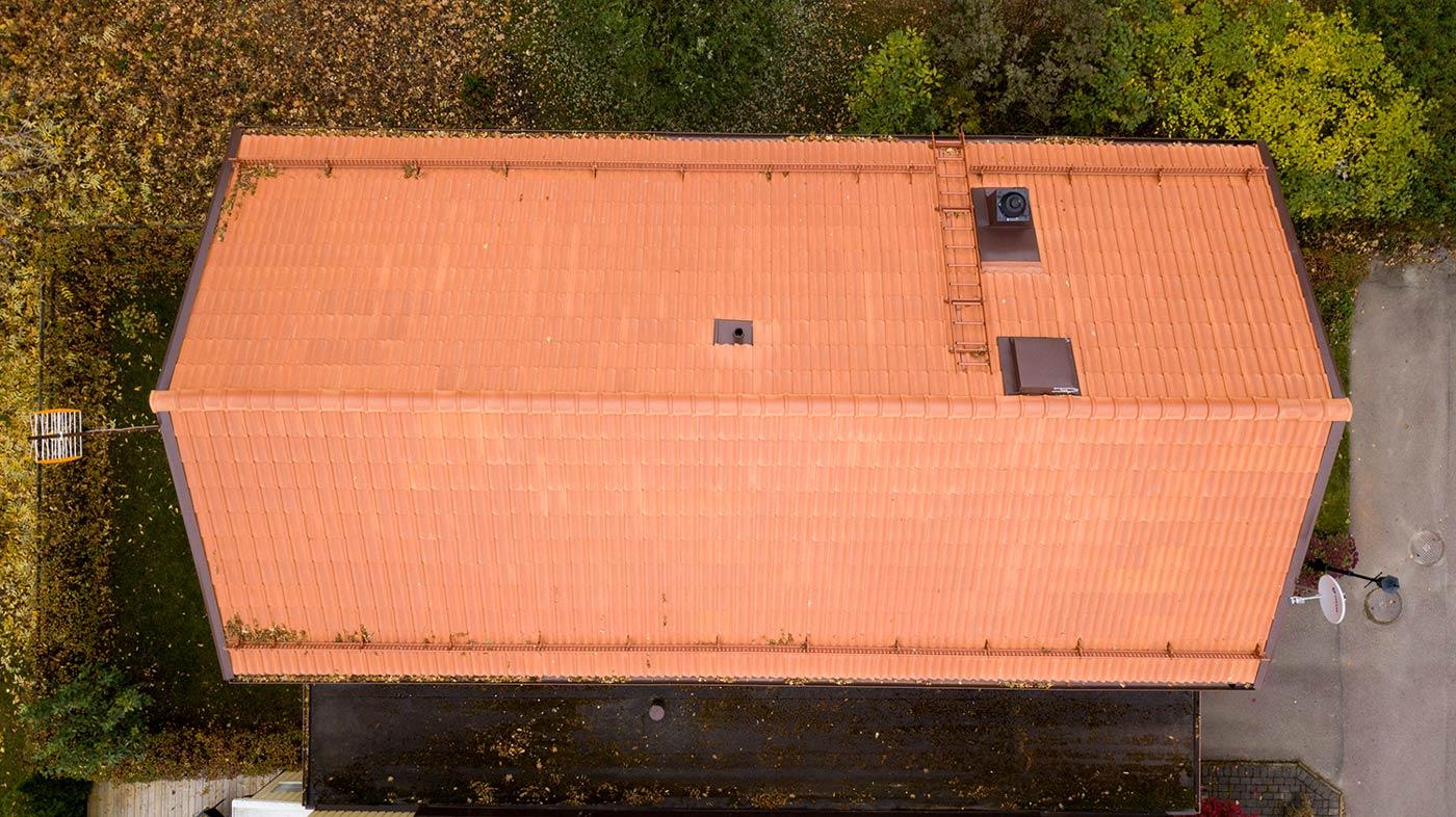 Takläggning som är utfört av HW-Bygg i Sala