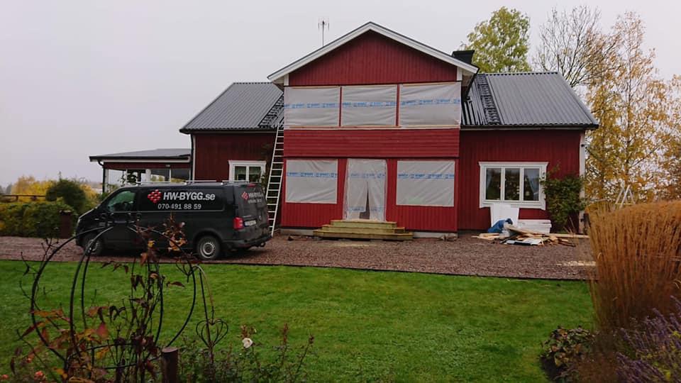 Tillbyggnad på hus - HW-Bygg