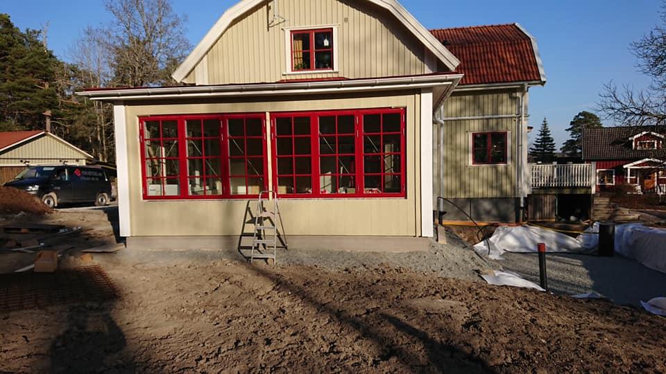 Utbyggnad på villa i Sala 2020 av HW-Bygg.